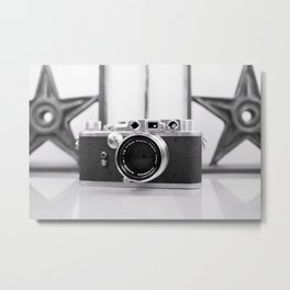 Nicca Rangefinder Camera - 1950s Metal Print
