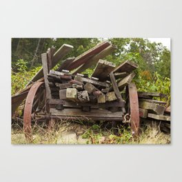 Reclaimed Woodpile Canvas Print