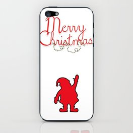 Merry Christmas with Santa iPhone Skin