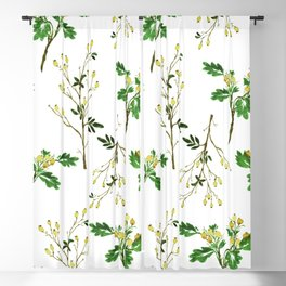 White Christmas Berries Pattern Blackout Curtain