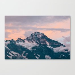 Swiss Alps - Another Day Gone Canvas Print