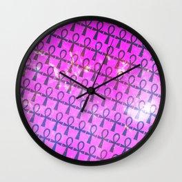 Ankh Pattern Wall Clock