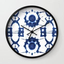 Shibori Flowersong Wall Clock