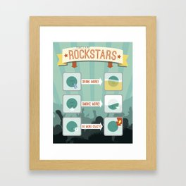 How to: Party Like Rockstars Framed Art Print