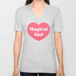 Heart Magical Girl Unisex V-Neck