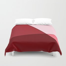 Pink, red. Duvet Cover