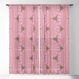 Abstraction_Stripe_Line_Art_Minimalism_001 Sheer Curtain