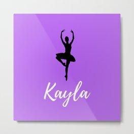 Kayla - Dancer - Light Purple Metal Print