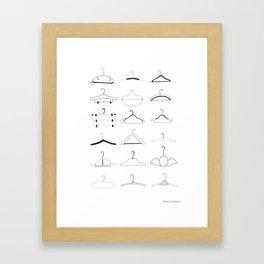 Hangers Framed Art Print