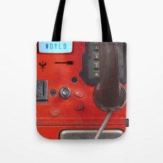Hello World Public Phone Tote Bag