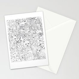 Les Chiens Stationery Cards