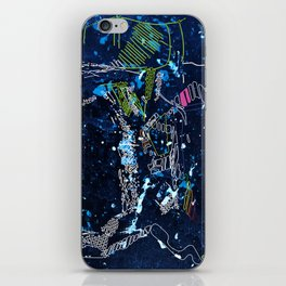 the tree over the blue iPhone Skin