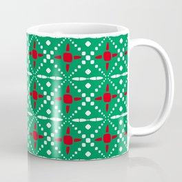 Christmas Pattern Green White Red 3 Coffee Mug