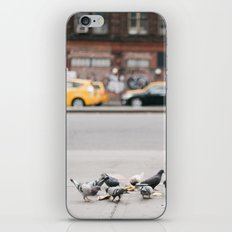 Pigeons and Yellow Cabs in New York City iPhone & iPod Skin