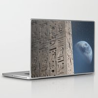 egyptian Laptop & iPad Skins featuring Egyptian Moon by Vin Zzep