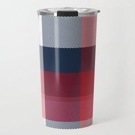 Minimal Plaid 3 Travel Mug