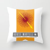 martell Throw Pillows featuring House Martell Sigil V2 by P3RF3KT