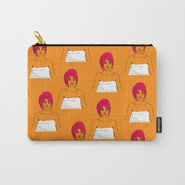 Cherry Pie Pattern in Orange Carry-All Pouch
