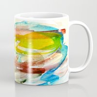 contact Mugs featuring contact by Kay Weber