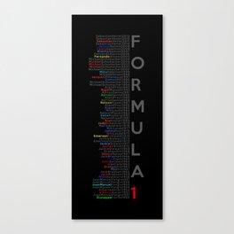 Formula 1 Champions Canvas Print