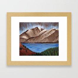 Serene Mountains Framed Art Print