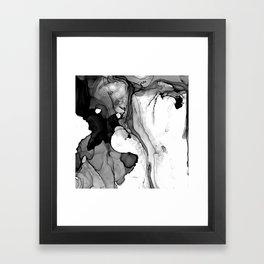 Soft Black Marble Framed Art Print