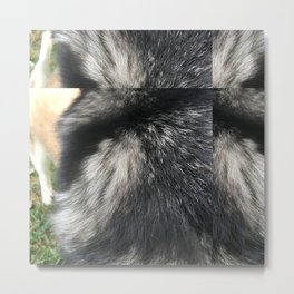 Furry Background Metal Print