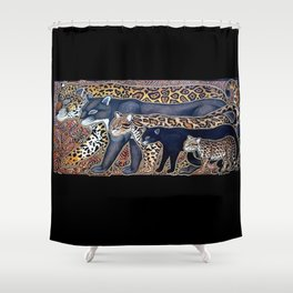 Big cats of Costa Rica Shower Curtain