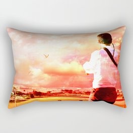 The Lost Horizons in Red Rectangular Pillow