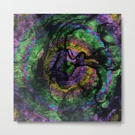 abstract ink marble 1 Metal Print