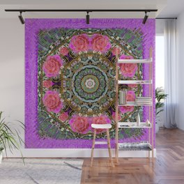 roses in a color cascade of freedom and peace Wall Mural