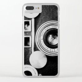 """the """"brick"""" ... a vintage camera photograph in back and white Clear iPhone Case"""