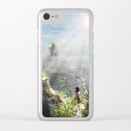 CLIMBING BUBBLES Clear iPhone Case