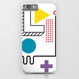 Minimal Geometric Design Abstract Art Pattern  iPhone Case