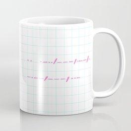 I love you in morse code Coffee Mug