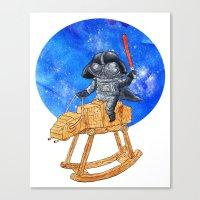 darth vader Canvas Prints featuring Darth Vader by gunberk