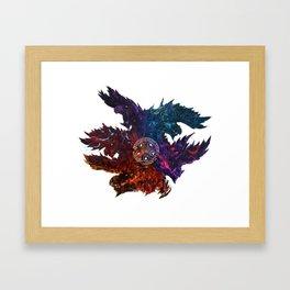 The Blazing Darkness  Framed Art Print
