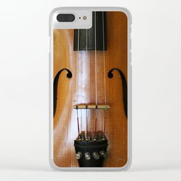 Close-up of Beautiful Violin Black Background #decor #society6 #buyart Clear iPhone Case