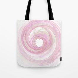Valentine's Fractal IV - Light Tote Bag