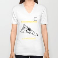battlestar V-neck T-shirts featuring Viper Mark II Service and Repair Manual by adho1982
