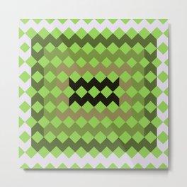 Green Quilt Metal Print