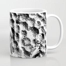 woman drinking a glass of wine on the moon Coffee Mug