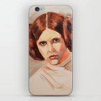 princess leia iPhone & iPod Skins featuring Princess Leia by Ashley Anderson