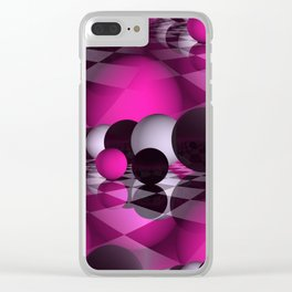3D - abstraction -115- Clear iPhone Case
