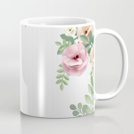 Pink Floral Watercolor Design Coffee Mug