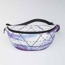 The Elements Geometric Nature Element of Water Fanny Pack