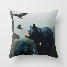 The Sacred Trail of the Great Bear Throw Pillow