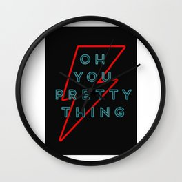 Oh You Pretty Thing - Bowie  Wall Clock
