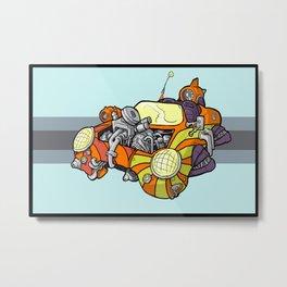 Steamcar Metal Print
