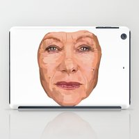 helen iPad Cases featuring Shaping the Stars - Helen Mirren by zajface